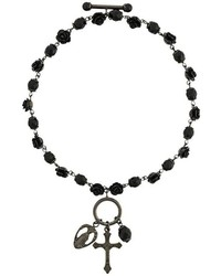 Bracciale con perline nero di Givenchy