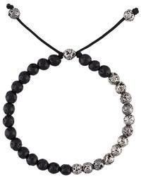 Bracciale con perline nero di M. Cohen