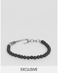 Bracciale con perline nero di Seven London