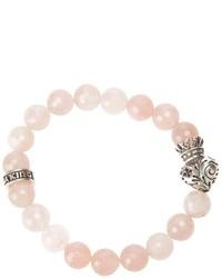 Bracciale con perline rosa di King Baby Studio