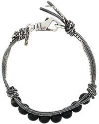Bracciale con perline tessuto argento di Emanuele Bicocchi