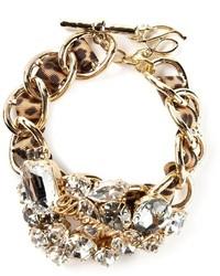 Bracciale decorato dorato di Dsquared2