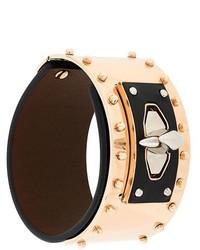 Bracciale in pelle con borchie nero di Givenchy