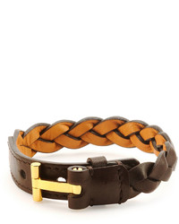 Bracciale in pelle marrone scuro