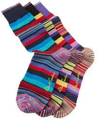 Calzini a righe orizzontali multicolori