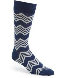 Calzini blu scuro e bianchi