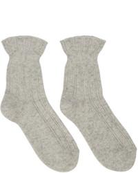 Calzini di lana beige