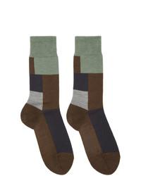 Calzini di lana marrone scuro di GR-Uniforma