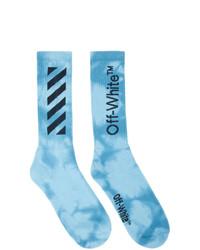 Calzini effetto tie-dye azzurri di Off-White