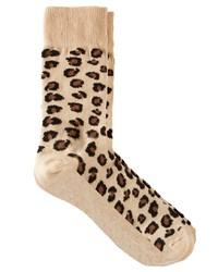 Calzini leopardati beige di Asos
