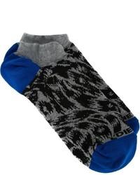 Calzini leopardati grigio scuro di Diesel