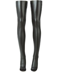 Calzini lunghi in pelle neri di Sacai