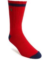 Calzini rossi e blu scuro