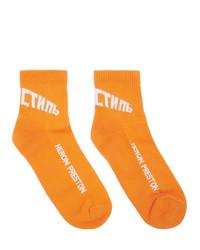 Calzini stampati arancioni di Heron Preston