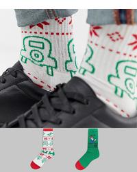 Calzini stampati bianchi di ASOS DESIGN
