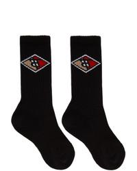 Calzini stampati neri di Burberry