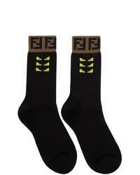 Calzini stampati neri di Fendi