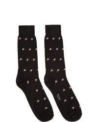Calzini stampati neri di Paul Smith