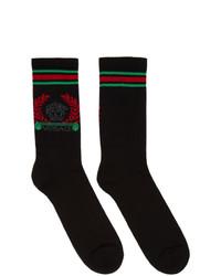 Calzini stampati neri di Versace