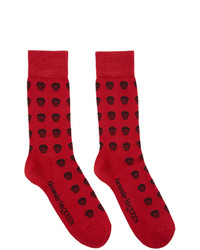 Calzini stampati rossi di Alexander McQueen