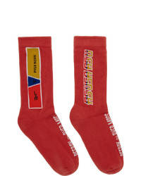 Calzini stampati rossi di Reebok By Pyer Moss