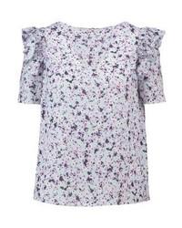 Camicetta manica corta a fiori viola chiaro di Dorothy Perkins