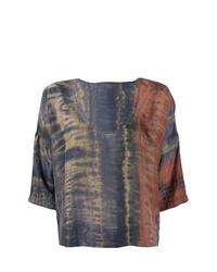 Camicetta manica corta effetto tie-dye multicolore