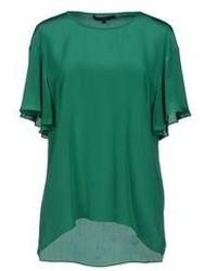 Camicetta manica corta verde scuro