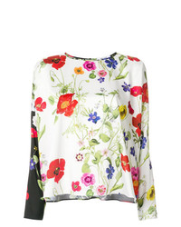 Camicetta manica lunga a fiori multicolore di Blugirl