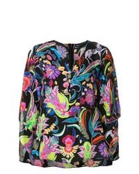 Camicetta manica lunga a fiori multicolore di Etro