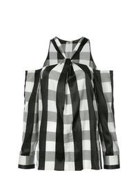 Camisetta a maniche lunghe a quadri nera e bianca di Rag & Bone