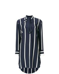 Camisetta a maniche lunghe a righe verticali blu scuro e bianca di Rag & Bone