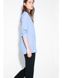 Camisetta a maniche lunghe azzurra