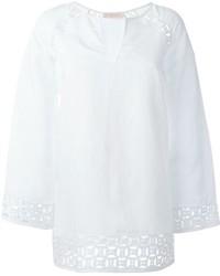 Camicetta manica lunga di lino bianca