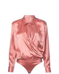 Camicetta manica lunga di seta rosa