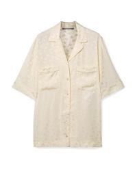 Camicia a maniche corte a fiori beige di Stella McCartney