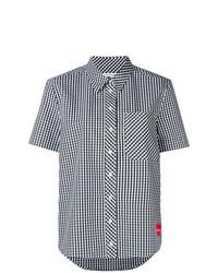 Camicia a maniche corte a quadri bianca di Calvin Klein Jeans