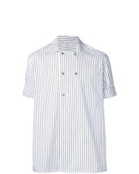 Camicia a maniche corte a righe verticali bianca di Aganovich
