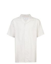 Camicia a maniche corte a righe verticali bianca di Onia
