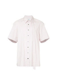 Camicia a maniche corte a righe verticali rosa di Ambush