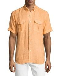Camicia a maniche corte arancione