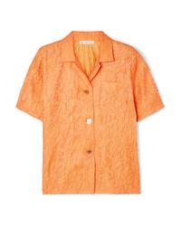 Camicia a maniche corte arancione di Rejina Pyo
