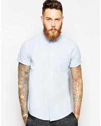 Camicia a maniche corte azzurra di Asos