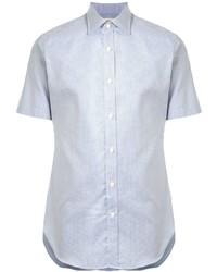 Camicia a maniche corte azzurra di Kent & Curwen