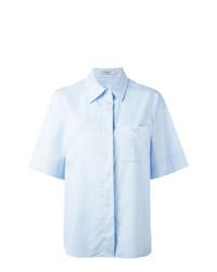 Camicia a maniche corte azzurra di Lanvin