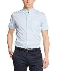 Camicia a maniche corte azzurra di Merc London