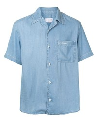 Camicia a maniche corte azzurra di Solid Homme