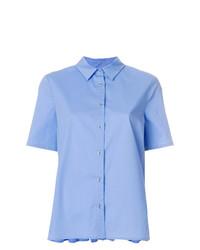 Camicia a maniche corte azzurra di Twin-Set