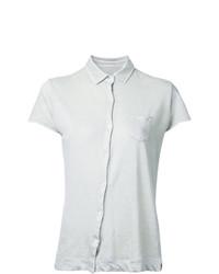 Camicia a maniche corte beige di Massimo Alba