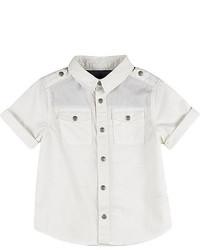 Camicia a maniche corte bianca